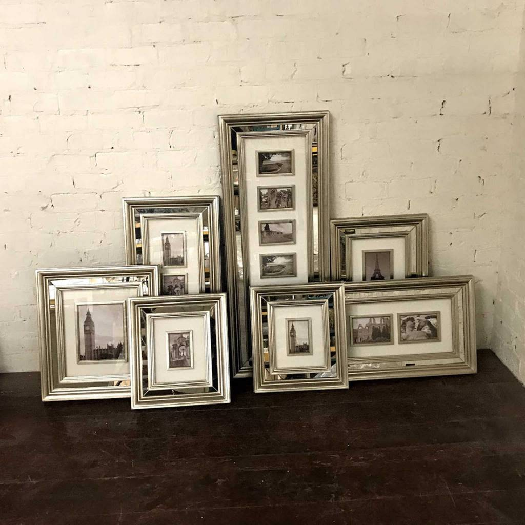Set of 7 Mirrored Collage Frames