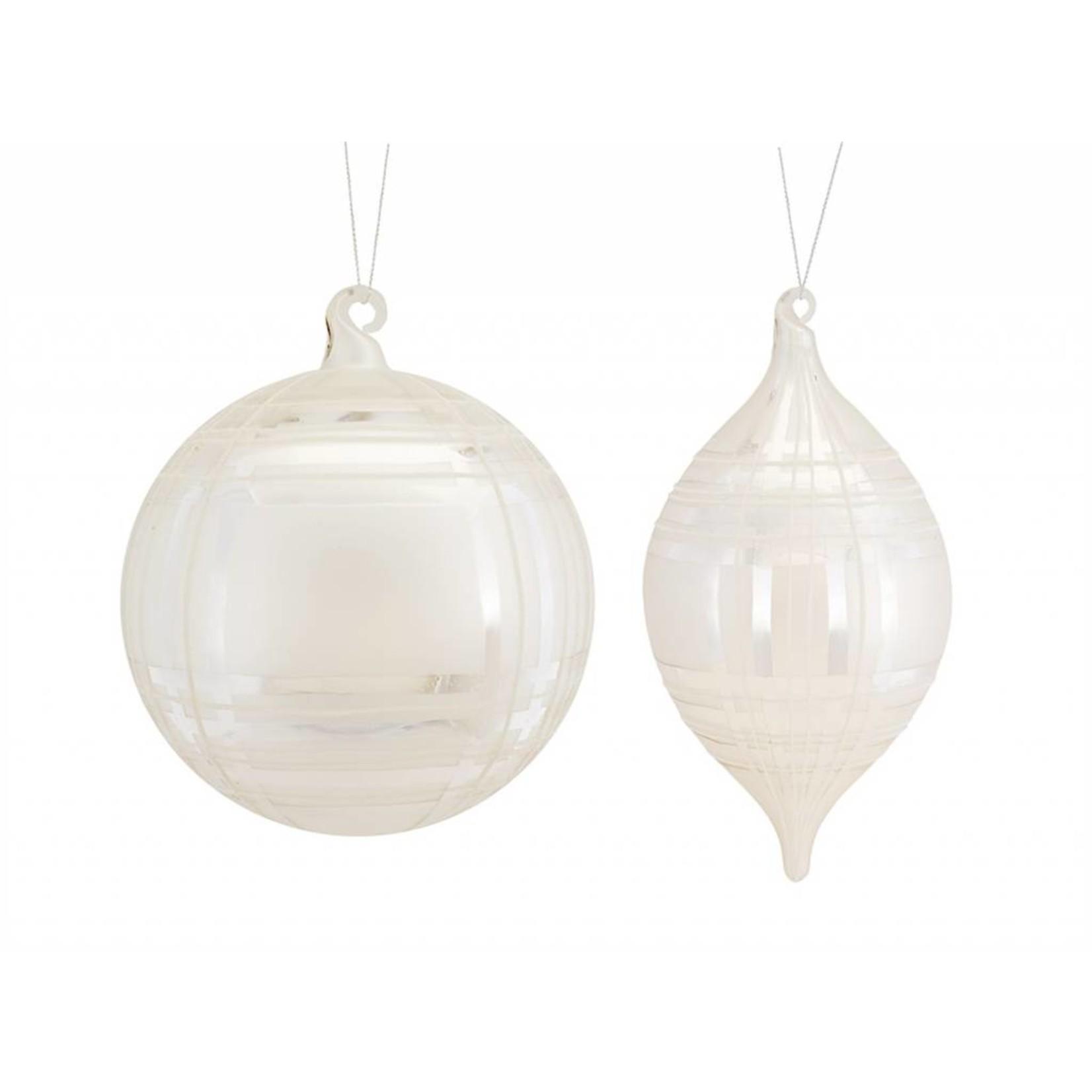 """Plaid Ornament (2 Asst) 8""""H, 10.5""""H Glass"""