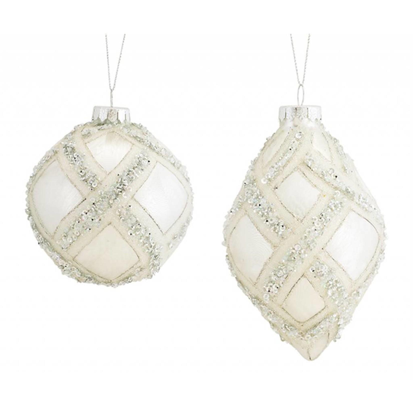 """Ball/Drop Ornament (2 Asst) 5.5""""H, 7""""H Glass"""