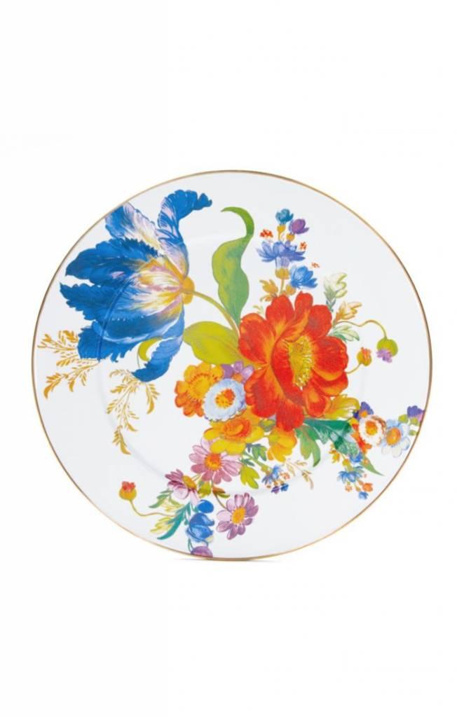 MacKenzie Childs Flower Market Serving Platter - White