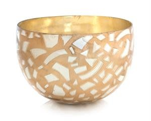 John Richard Confetti Gold and Mercury Bowl