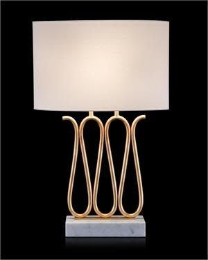 John Richard Ribbon Of Gold Table Lamp Treasured Accents