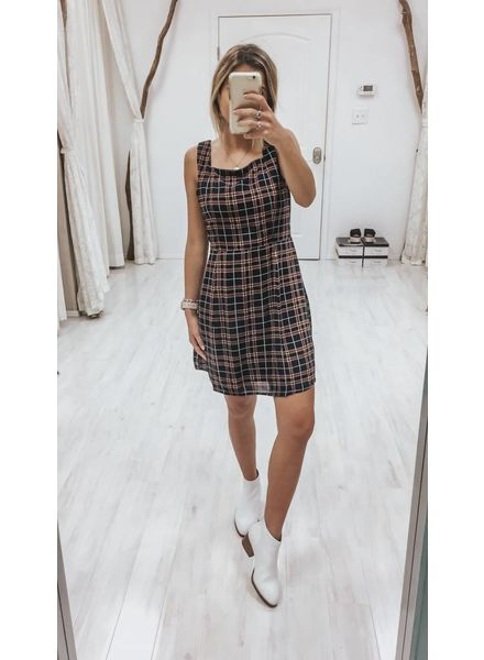 Sadie & Sage Emery Plaid Mini Dress