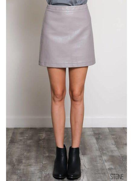 Wishlist Vegan Leather Miniskirt