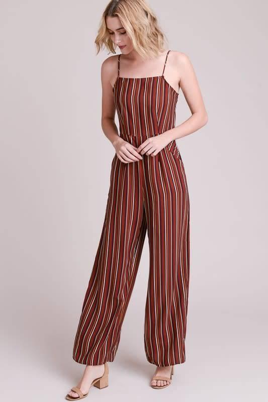 Le Lis Georgia Stripe Jumpsuit