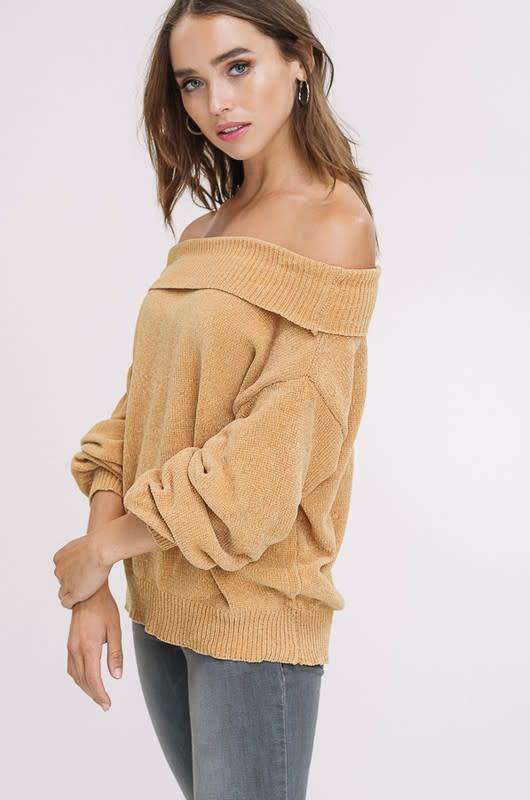 Listicle Puff Sleeve Sweater