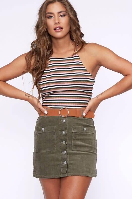 Peach Love California Jamie Belted Skirt