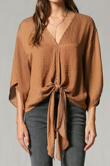 By Together Tie Front Top