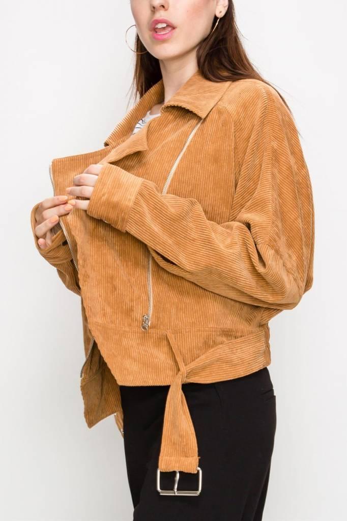 Fate Corduroy Moto Jacket