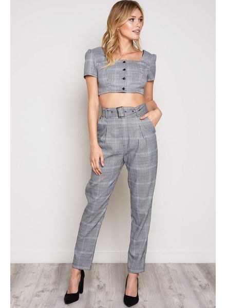 Blue Blush Dublin Plaid Pants