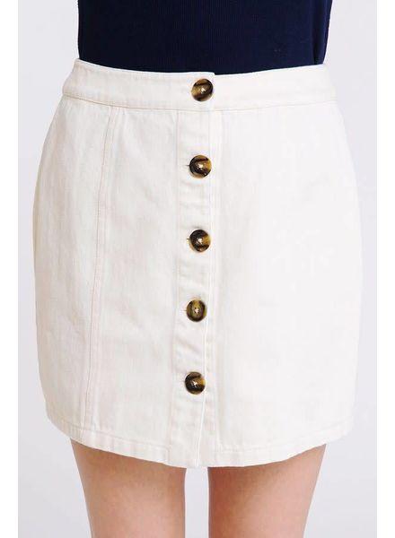 Newbury Kustom Clarice Cream Skirt