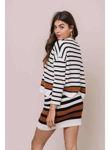 dee elly Spectacle Stripe Skirt