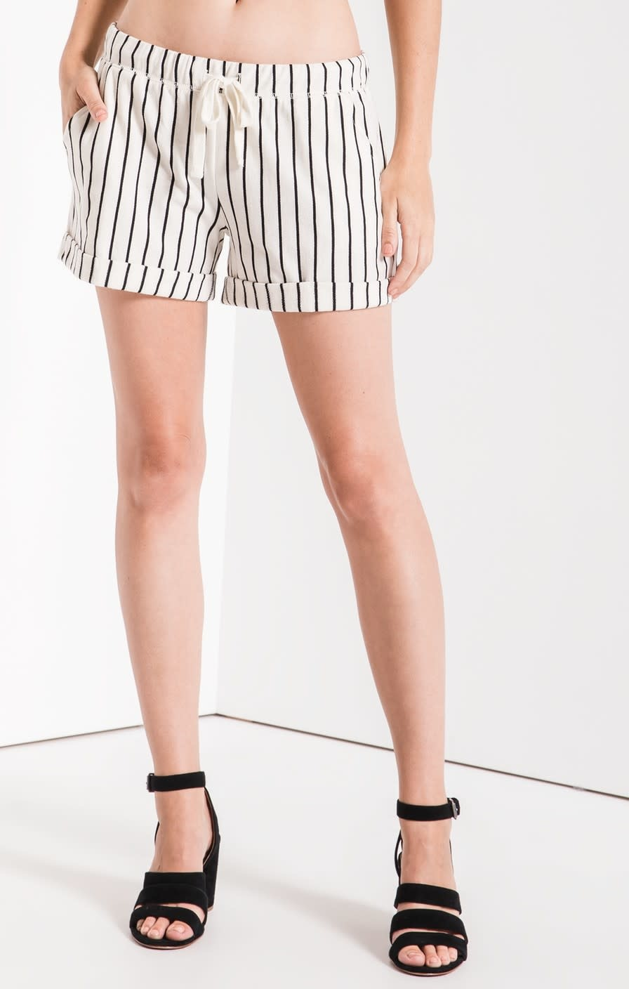 Z Supply Pinstripe Boyfriend Short