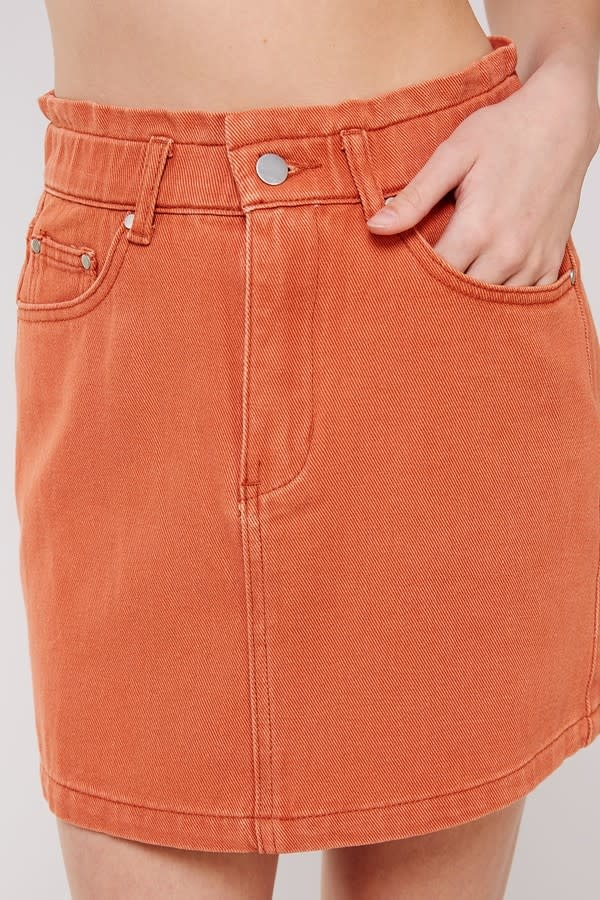 Newbury Kustom Dreamsicle Mini Skirt