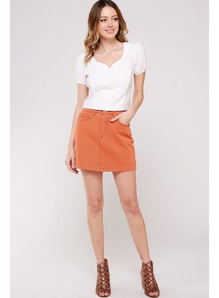 Newbury Kustom Dreamsicle Mini Skirt