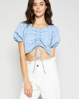Sadie & Sage Quinn Denim Crop Top