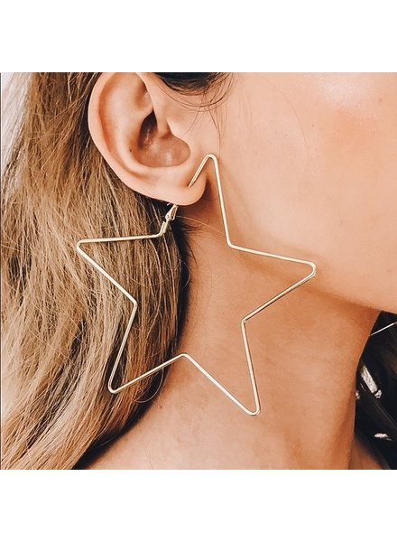 I.CCO Accessories Wire Star Hoops