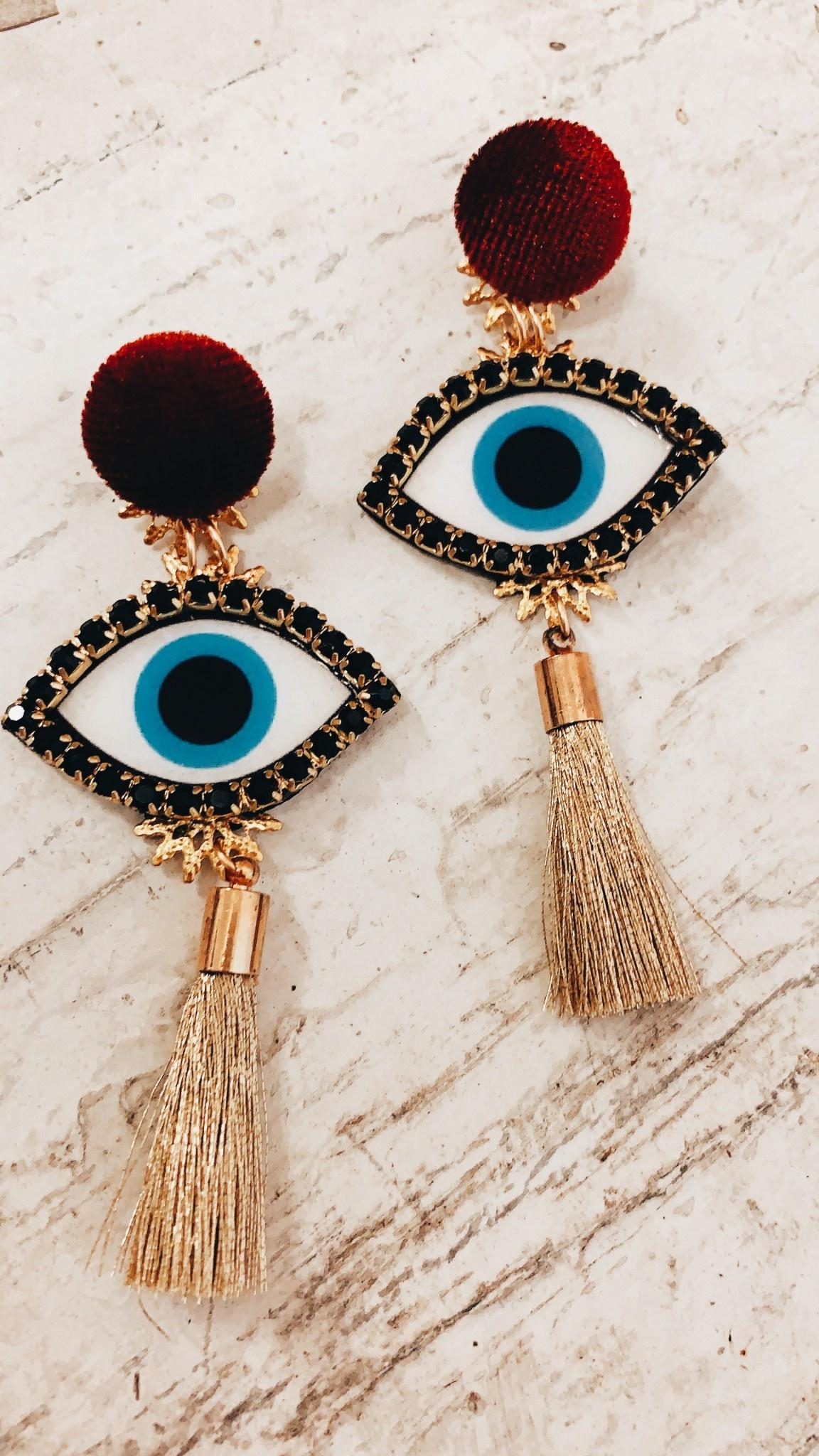 Shine Design & Shop Classic Eye Earrings
