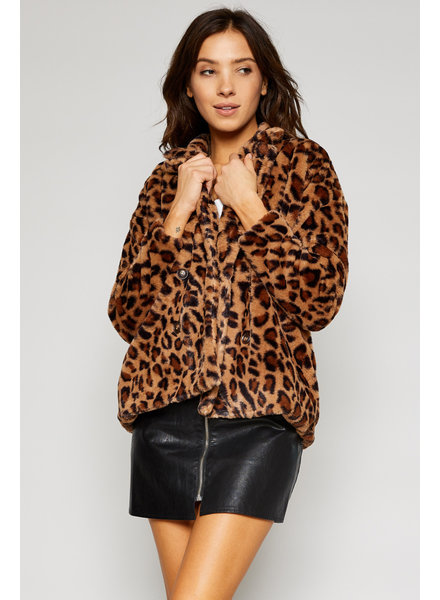 Sadie & Sage Lady Leopard Fur Coat