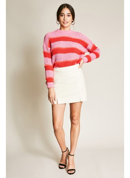 dee elly Cream Mini Skirt