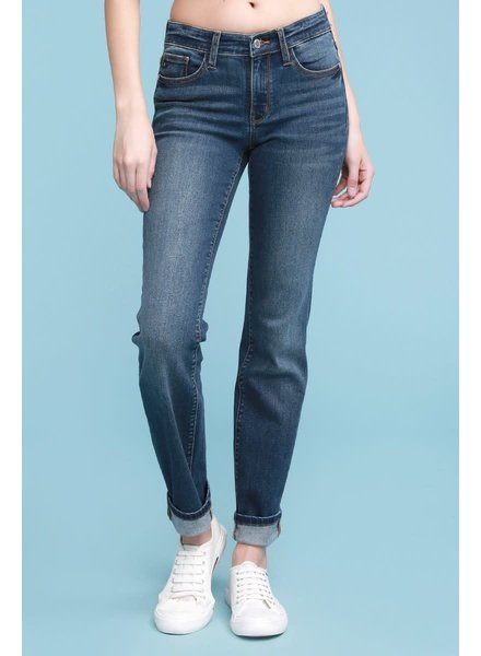 Judy Blue Jeans Cuffed Straight Denim