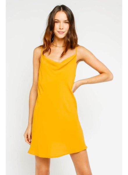 Olivaceous Marigold Slip Dress