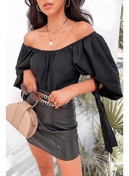 Olivaceous Tied Sleeve Blouse