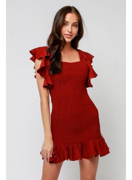 Olivaceous Harvest Moon Dress