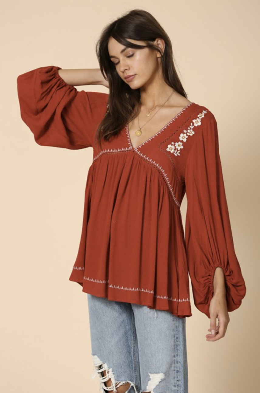 By Together Lilette Embroidered Tunic