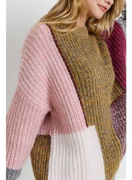 Il Bianco Lucille Colorblock Sweater