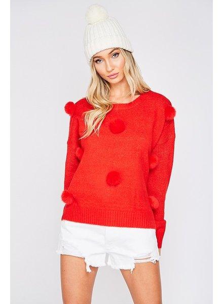Madison Shake Your Pom Pom Sweater