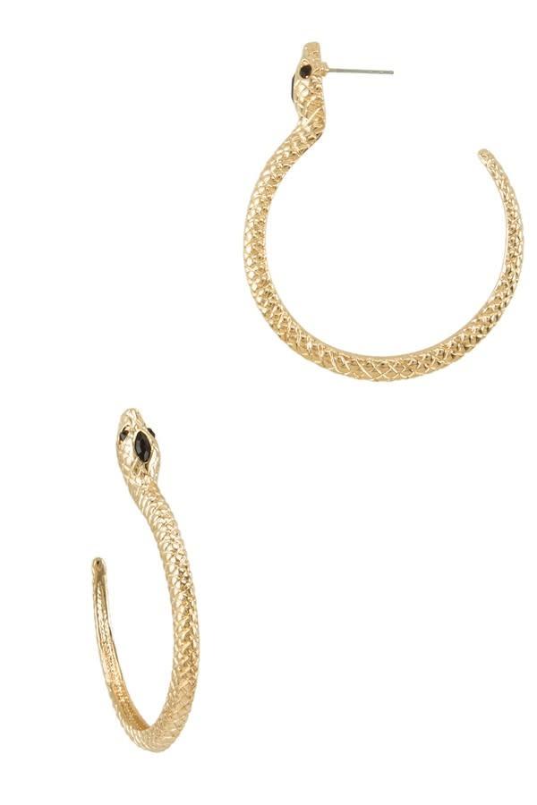 I.CCO Accessories Leo Snake Earrings