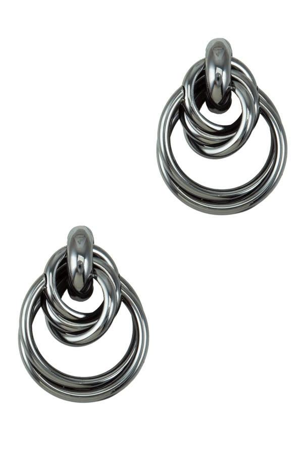 I.CCO Accessories Hematite Earrings