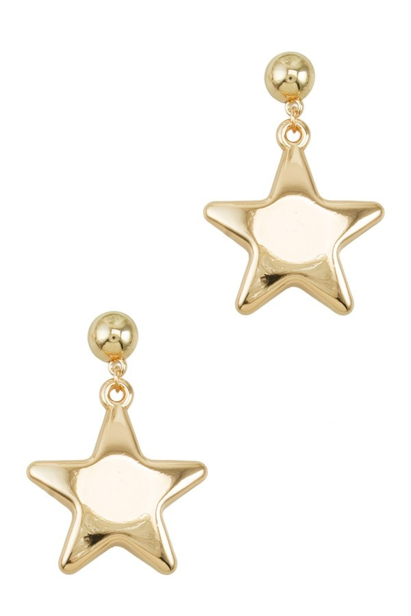 I.CCO Accessories Puff Star Earring