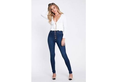 Vibrant Maya Button Fly Jeans