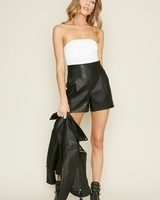 dee elly Rebellious Leather Shorts