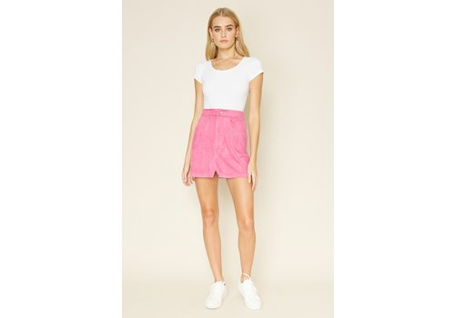 dee elly Suede Your Way Skirt