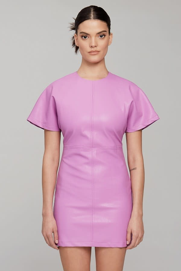 Evenuel Get It Together Faux Leather Dress