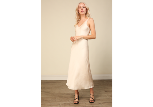 Line + Dot Charlize Satin Dress
