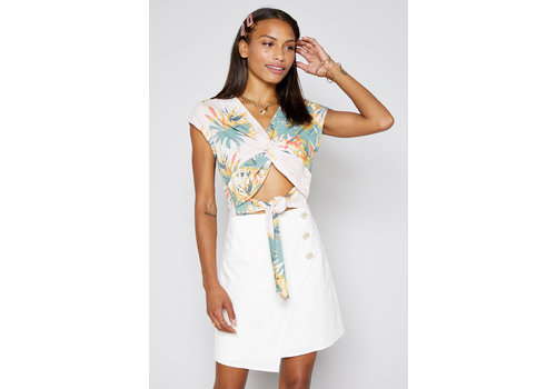 Sadie & Sage Come Ashore Linen Skirt