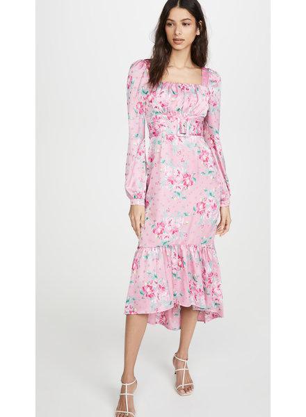 WAYF Flirt Belted Bustier Dress