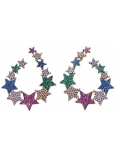 Gemelli Jewel Star Earrings