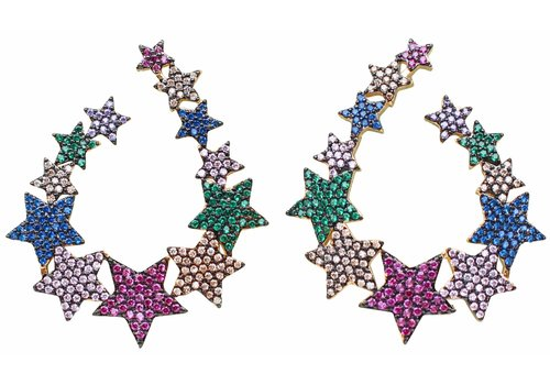 Gemelli Jewel Star Earrings