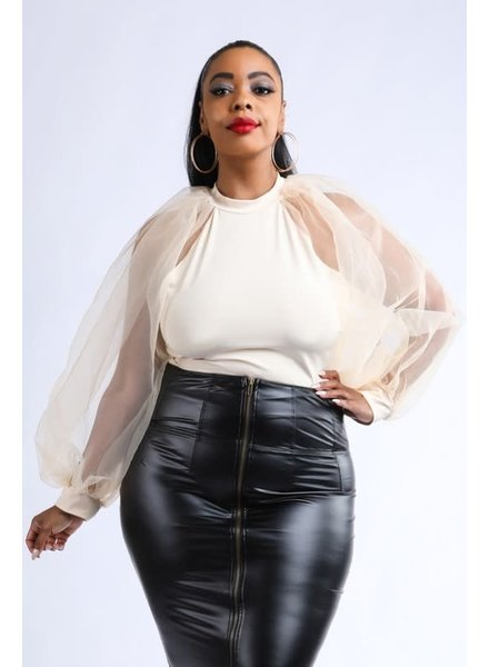 AAAAA Fashion Puff Love Bodysuit (Plus)
