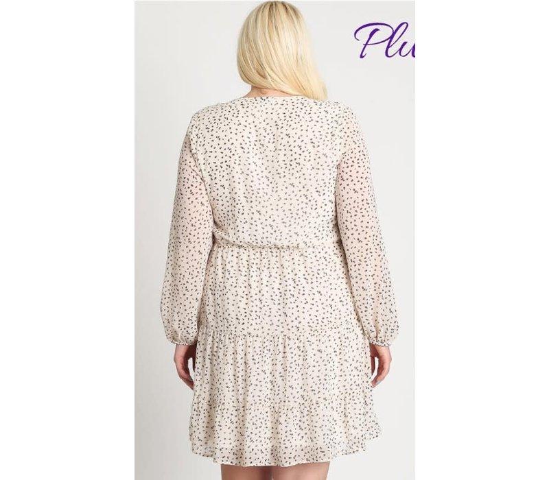 Dot Your Back Dress (Plus)