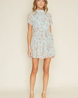 dee elly Say High Neck Mini Dress