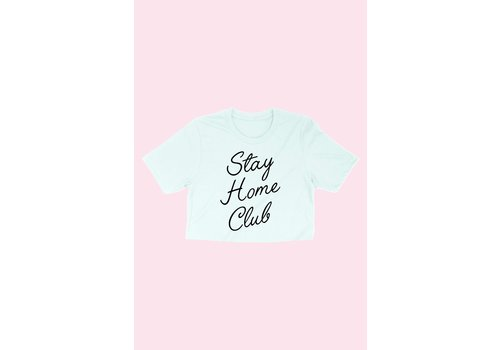 Alphia Stay Home Club Crop Tee