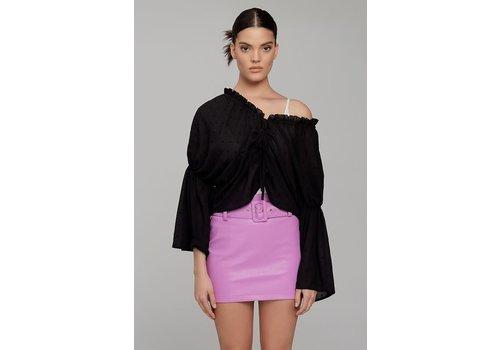 Evenuel Kara Leather Skirt