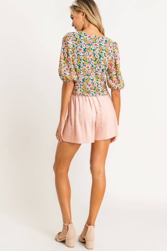 Wildflower Ruched Top