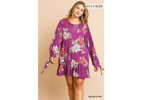 Umgee Magenta Mama Dress (Plus)